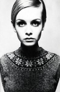 Твигги молодая модель на фото Барри Латегана