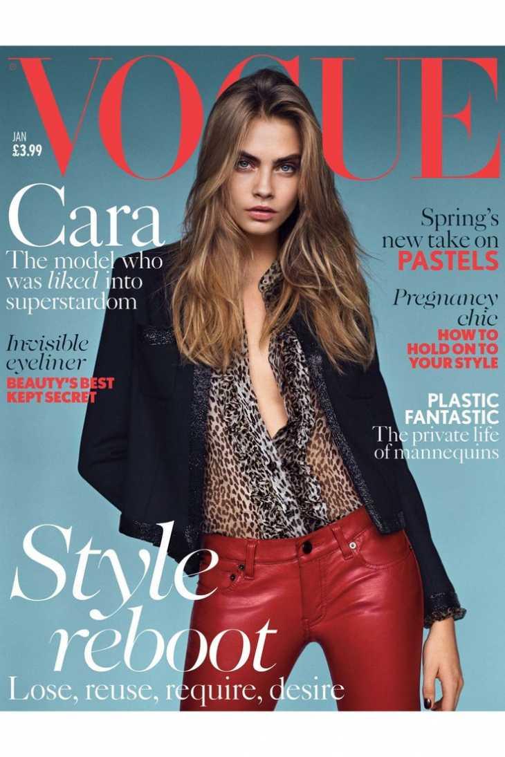 Кара Делевинь на обложке Vogue