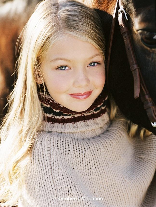 Джиджи Хадид в детстве