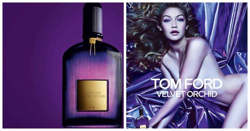 Джиджи Хадид в рекламе Том Форд Velvet Orchid