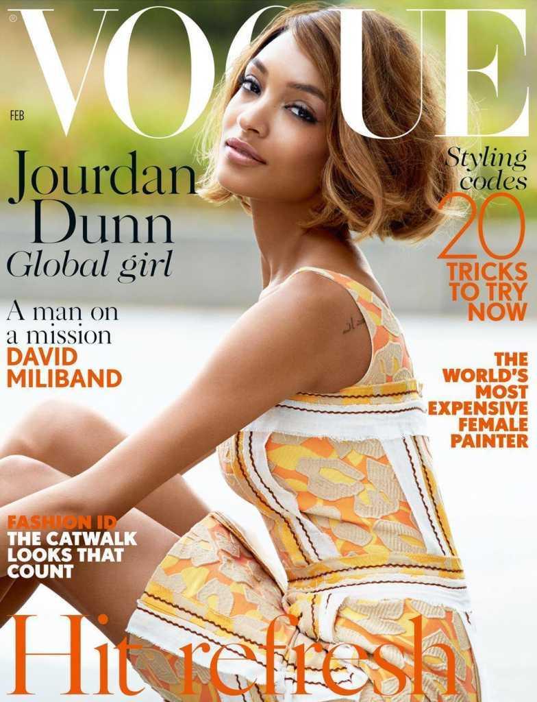 Джордан Данн на обложке журнала Vogue