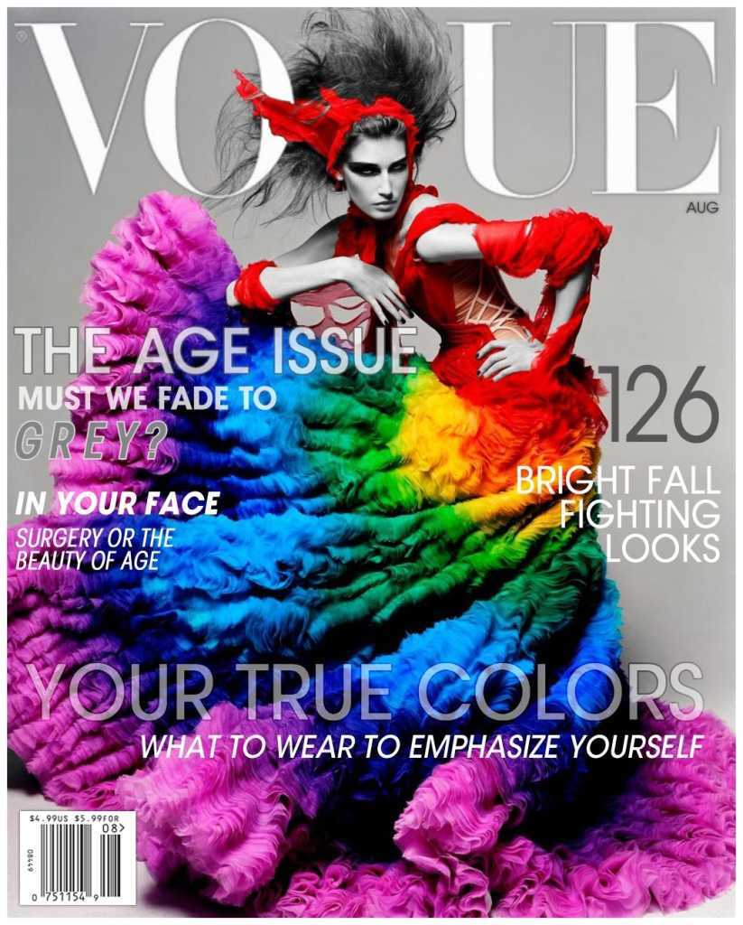 Евгения Володина в журнале Vogue