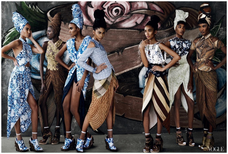 Шанель Иман фото Vogue