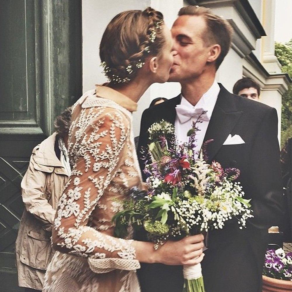 Фрида Густавссон с мужем