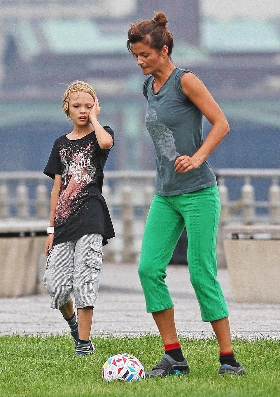 Хелена Кристенсен и сын