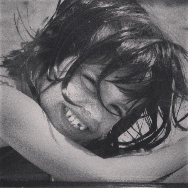 Сара Сампайо в детстве