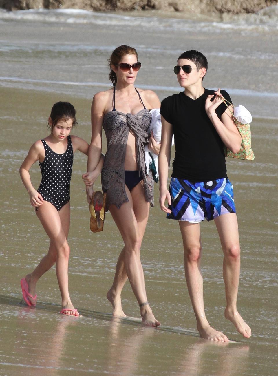 Стефани Сеймур с детьми