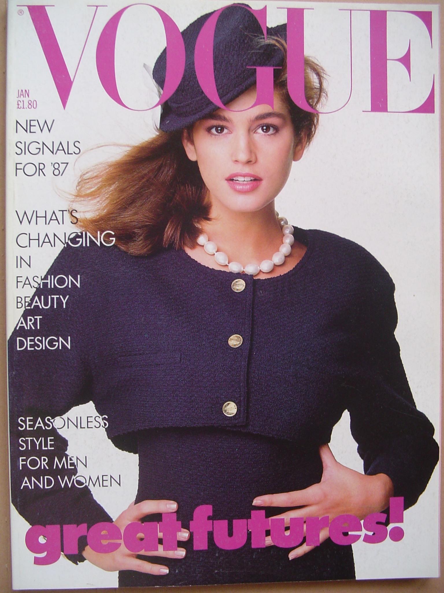 Синди Кроуфорд Vogue 1987