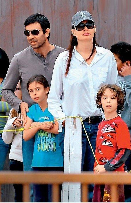 Джина Дэвис с детьми