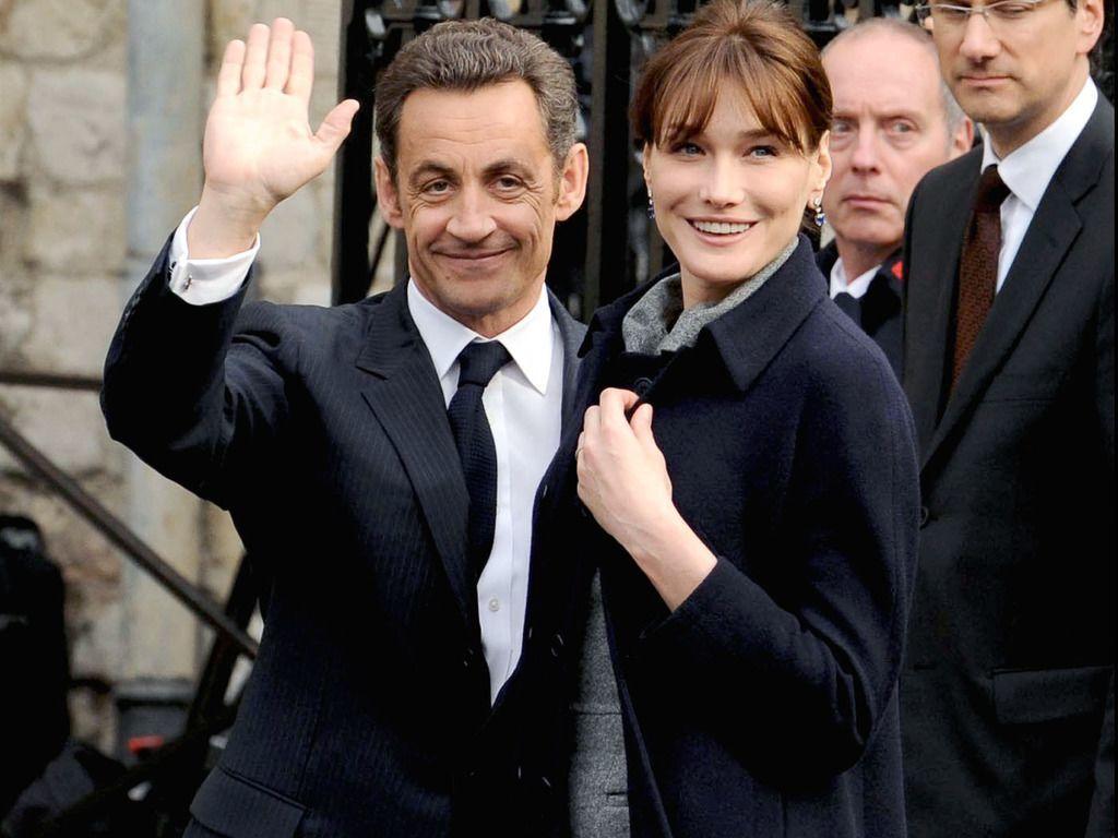 Карла Бруни и муж Николя Саркози
