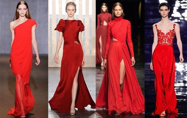 красный цвет на Новый год