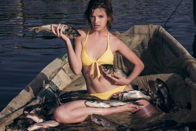 Алена Рубан с рыбой