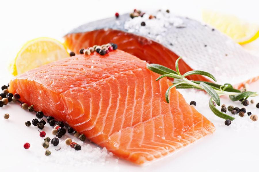 здоровые продукты лосось