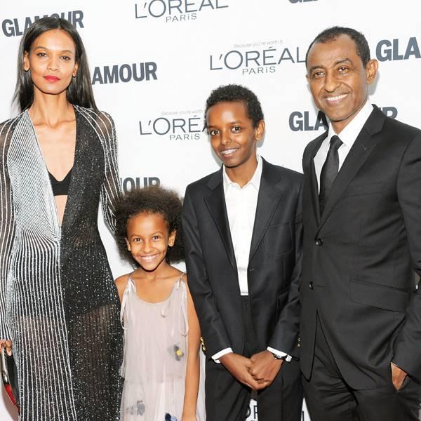 Лия Кебеде с мужем и детьми