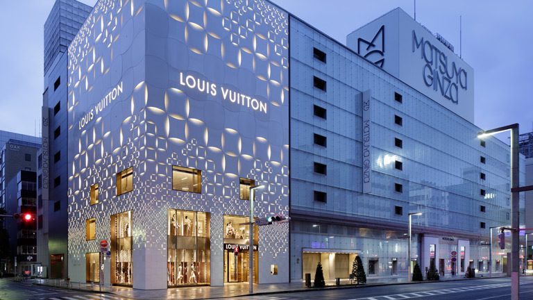louis vuitton магазин в Токио